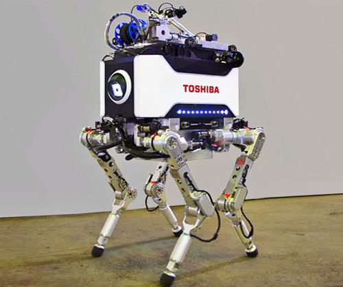Toshiba has designed and built a four-legged robot to conduct investigative and recovery work in locations too dangerous for humans, including the reactor buildings of the damaged Fukushima Dai-Ichi No. 1 nuclear plant.   (Source: Toshiba)