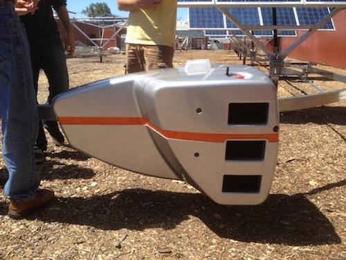 Energy Department Funds Development of Solar-Panel Robots: The QBotix tracking system, shown here, is a robotic system for tilting solar panels toward the sun that can increase the output of the panels by up to 15 percent. The Menlo Park, Calif.-based company received a $1 million grant by the Department of Energy to advance its technology, funds it will use for future demonstrations and to add support for concentrated photovoltaics to the system, a company spokesman said.   (Source: QBotix)