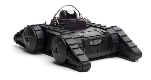 The Avatar II is a remote-controlled tactical robot with a 300m (328 yards) operating range for first responders and SWAT teams. It includes a front-mounted drive camera, a high-intensity front headlight, an infrared light, a 360-degree pan-tilt-zoom camera, and a composite chassis that's resistant to shock and water. Front and rear flippers help it climb stairs at inclines of up to 60 degrees and right itself if turned upside down. It's also got secure WiFi for live video and audio transmission, as well as two-way audio operation and video and audio recording capability. Separate wireless channels let operators control multiple robots simultaneously. The Avatar II weighs 25 lb (11.34 kg) and measures 24.41 inches (62 cm) by 15.35 inches (39 cm) by 6.14 inches (15.6 cm).   (Source: Robotex)