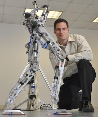 Dr. Aaron Ames started thinking about a robot's ability to walk like a human during motion capture experiments performed on humans.