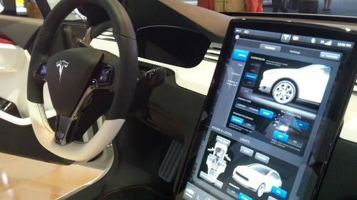 The Model X's 17-inch diagonal touchscreen would be the auto industry's biggest when the vehicle reaches production.   (Source: Design News)