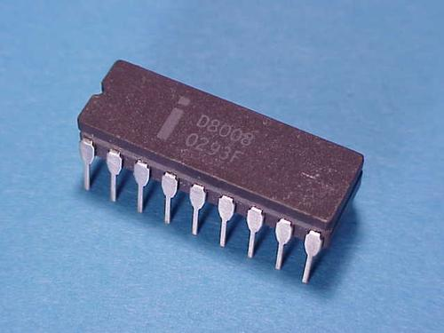 The Intel 8008, the first general-purpose 8-bit microcontroller.   (Source: Intel)