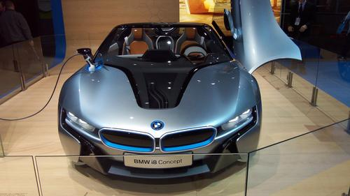 BMW's hybrid electric i8, which is expected to hit the streets in 2014, will use two distinct drive systems. The front axle will employ the i3's 170HP electric motor, while a 220HP, three-cylinder internal combustion engine will drive the rear. Using that arrangement, all four wheels of the i8 will be driven at the same time, in a manner similar to that of an all-wheel-drive vehicle. (Source: Design News)
