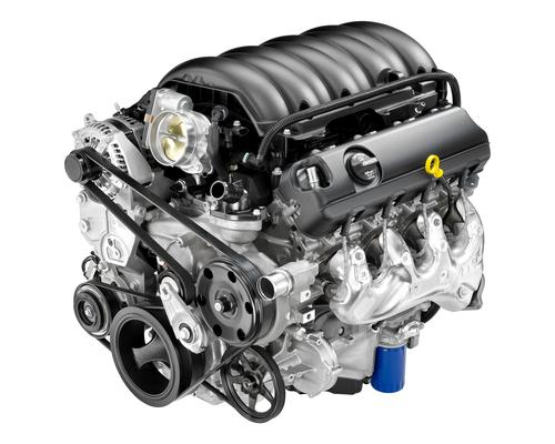 GM's 6.2L V-8 delivers 450 HP and 450 lb-ft of torque to the 2014 Chevrolet Corvette. It employs a direct injection fuel system, active fuel management, and variable valve timing. GM engineers used computational fluid dynamics to optimize the combustion system and ensure a more complete burn.   (Source: Chevrolet)