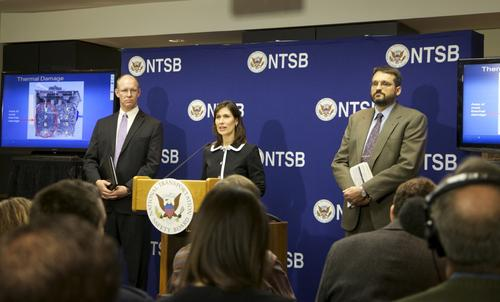 NTSB chairman Deborah Hersman said last week that investigators have concluded that a short circuit occurred in cell number six of the pack's eight cells.   (Source: NTSB)