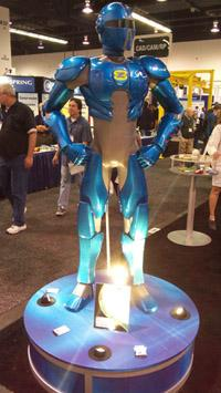 Solid Concept's ZoomR superhero uses an additive manufacturing process that enables it to be 1/12th the weight of a stereolithography-based solid model.   (Design News photo)