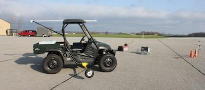 An experimental electric car designed by researchers at Ohio State University features improved motion control from wheels that have their own individual motors, giving them more stability and capabilities. OSU Professor Junmin Wang, who is leading the project, said the design is well-suited for an urban environment.   (Source: Ohio State University)