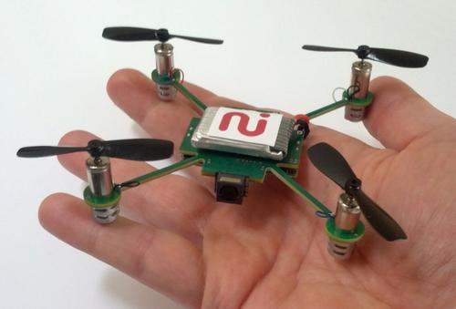 The palm-sized MeCam, based on open-source software, will follow you around and shoot video.(Source: Always Innovating)