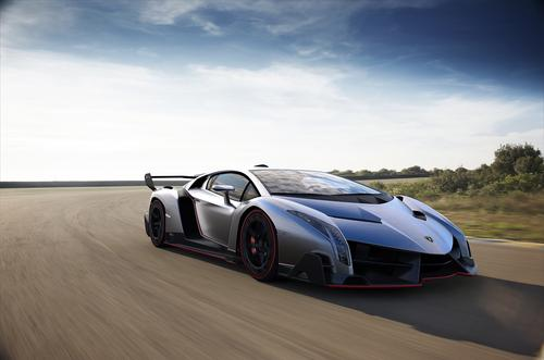 The $3.9M Lamborghini Veneno features a 6.5-liter, 12-cylinder engine. Working with a seven-speed transmission, it produces 750 HP and accelerates from zero to 100 km/h in just 2.8 seconds.   (Source: Automobili Lamborghini)