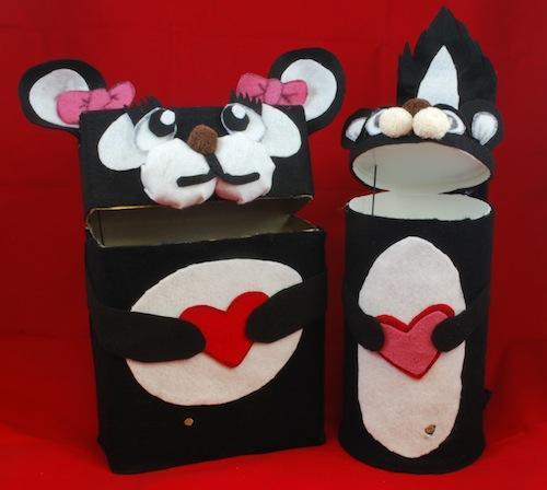 Jeremy Willden created small mailboxes for his daughters' Valentine's Day cards. The boxes use a sensor to open automatically when someone walks by.