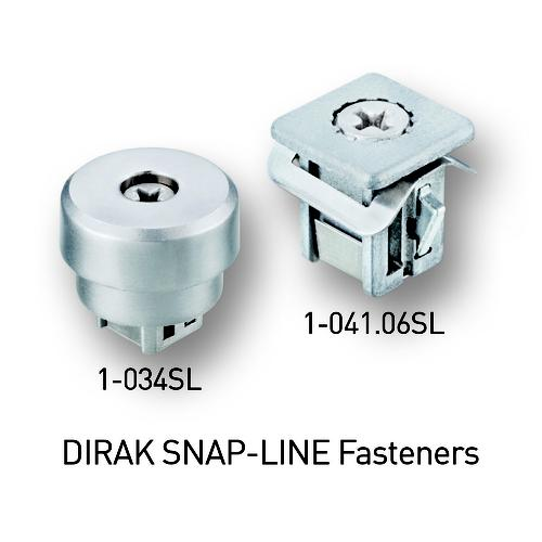 SNAP-LINE Captive Fasteners incorporate D-SNAP Technology and feature tool-less installation. These products dramatically decrease assembly time of the hardware installation to provide operational efficiencies and improved quality.   (Source: DIRAK)