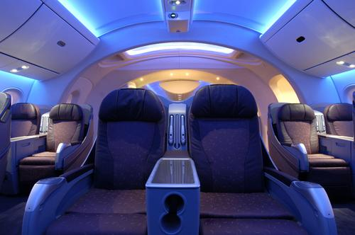 Early on, Boeing said it wanted the 787 Dreamliner to offer an 'improved experience for passengers,' including greater luxury.   (Source: Boeing Co.)