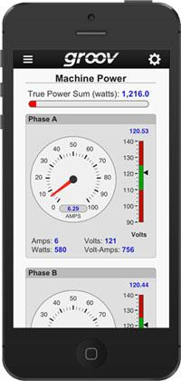 How an application built using Opto 22's Groov tool might look on an iPhone. The automation vendor plans to release the tool for building and deploying web-based automation, monitoring, and control interfaces for mobile devices regardless of OS in April. The interfaces are meant to be complementary to human machine interfaces (HMIs) from Opto 22's SNAP PAC control system.   (Source: Opto 22)