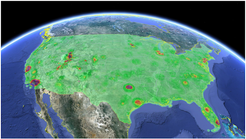 Google's representation of available wireless spectrum in the US looks appetizing for data carriers.(Source: Google)