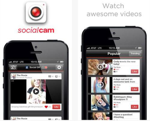 The Socialcam app lets you instantly capture, edit, and share videos anywhere in the world.(Source: AutoDesk and iTunes)