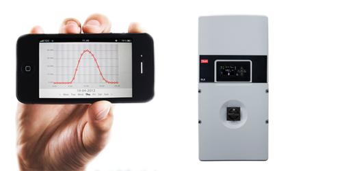 Left: Monitoring the performance of a photovoltaic solar installation is simple using the interface on the Danfoss DLX solar inverter or integrated Web server. The DLX uses ConnectSmart technology to offer 24/7 remote system monitoring via the Danfoss SolarApp and/or dedicated CLX Portal. Right: New Danfoss DLX solar inverters are transformer-based string inverters that deliver 97.3 percent efficiency to maximizethe effectiveness of solar power applications.(Source: Danfoss)