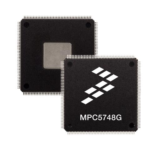 Freescale's Qorivva MPC5748G uses two main cores operating at 160 MHz and a smaller I/O core running at 80 MHz, to help with the division of electronic tasks.   (Source: Freescale Semiconductor)