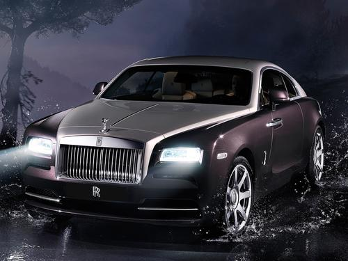 Rolls-Royce's 5,200-lb Wraith produces 624 HP and 590 ft-lb of torque. It goes from 0 to 60 in 4.4 seconds.   (Source: Rolls-Royce)