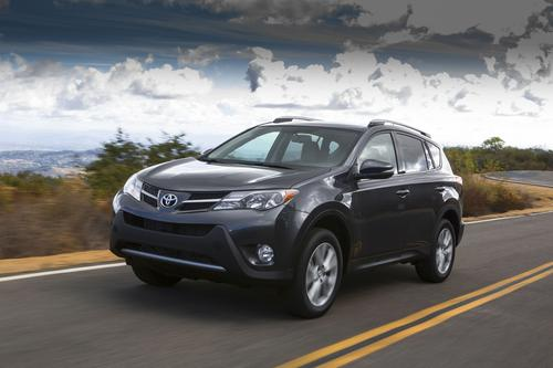 The Toyota RAV4 -- with four-cylinder and six-cylinder engines -- got high marks for used car reliability.(Source: Toyota)