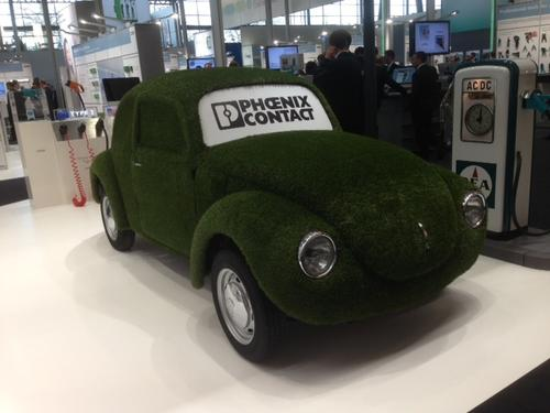 For starters, I think the folks at Phoenix Contact have taken the concept of a 'green car' just a bit too far.