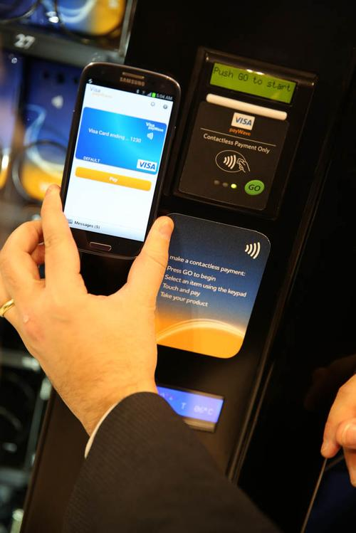 Visa is promoting EMV chip technology, which incorporates additional security features,to banks, merchants, and smartphone manufacturers.(Source: Visa)