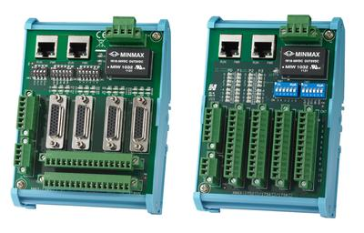 These are two of the motion-control I/O modules in a new series from Advantech. The series is aimed at meeting growing industrial demands for more complex motion-control systems.   (Source: Advantech)