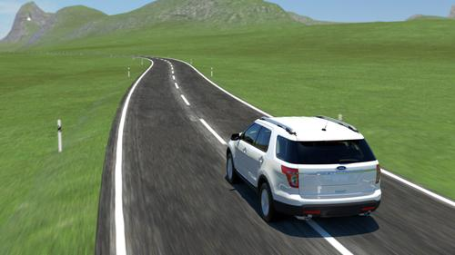 A lanekeeping system from Ford Motor Co. can recognize drowsy drivers and help them stay alert and in their lanes. When the lanekeeping system detects the vehicle drifting close to lane markings, it notifies the driver through a vibration to the steering wheel or by providing steering torque to move the car back toward the center of the lane.   (Source: Ford Motor Co.)