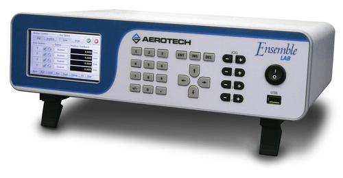 Aerotech's Ensemble LAB control platform is optimized for laboratory automation, with a full-color touchscreen display and an intuitive tabbed interface to provide single finger-press access to set-up and operation screens.   (Source: Aerotech)