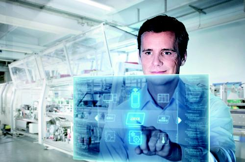 New mobile apps are being designed to combine traditional PLC process control with the IT world and factor networks, with the goal of enabling users to easily get process data from machines on the manufacturing floor.   (Source: Bosch Rexroth Corp.)