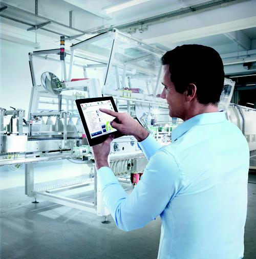 Tablets such as the iPad are often viewed as a convenient interface for viewing data to improve management of production and quality functions.   (Source: Bosch Rexroth Corp.)