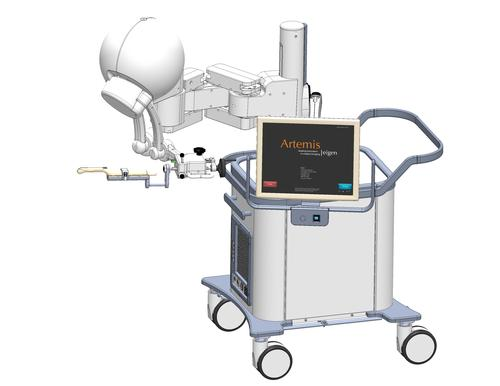 The new Artemis system uses Ogura high-torque permanent magnets brakes with high-resolution 3D medical imaging to help pinpoint cancer.   (Source: Ogura)