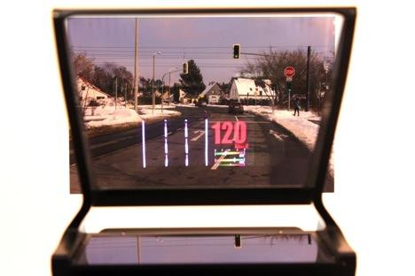 Figure 1. This prototype is a HUD concept that's targeted for production use in 2016.