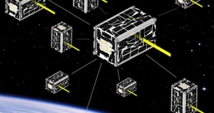 A swarm of advanced and affordable nanosatellites for a coordinated science mission demonstration.   (Source: NASA)