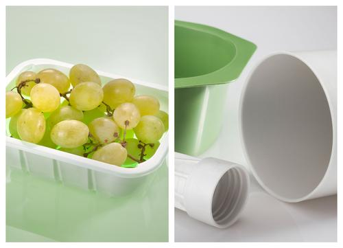 New versions of BASF's Ecovio line are both compostable and designed for either injection molding or thermoforming. These combinations are becoming more common for the single-use bioplastics used in food service and food packaging applications, but are still not widely available.   (Source: BASF)