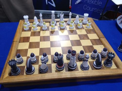 And if you're not into monsters, how about a game of chess? Design Point Solutions also had this on display.