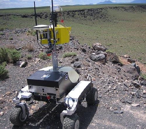 Figure 1: The K10 robot is a member of a series of interplanetary rovers.   (Source: NASA IRG)