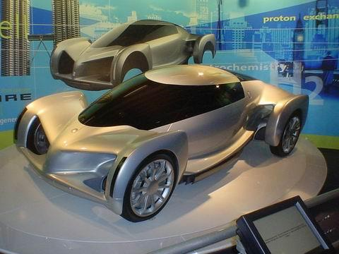 GM's Hy-Wire concept car combined hydrogen fuel cells with drive-by-wire technology.(Source: Wikipedia)