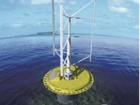 Japanese company Mitsui Ocean Development & Engineering Company (MODEC) has designed a hybrid floating wind turbine that also can harvest energy from ocean currents. The SKWID could be used to provide electricity to islands in remote places or with limited facility space, among other offshore applications. <br< (Source: Mitsui Ocean Development and Engineering Company)