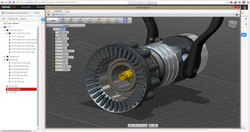 Autodesk tools are used to edit CAD models in the cloud.   (Source: GrabCAD)