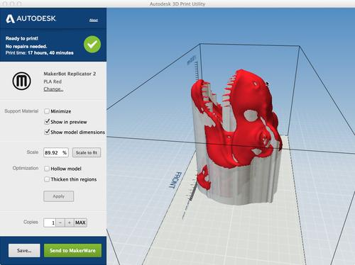 Autodesk's 123D family of apps will be the first to take advantage of the direct 3D print function that will soon be available in Windows through a Windows 8.1 update.   (Source: Autodesk)