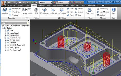 HSMExpress in Autodesk Inventor.   (Source: Autodesk)