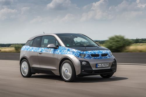 BMW's new i3 electric car is rated at 360V.   (Source: BMW)