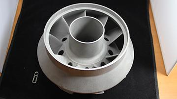 Phenix Systems makes proprietary equipment for direct laser sintering of production end products with metal and ceramic materials. The high-end PXL 3D printing machine for metals and ceramics was used to create this turbine for the aerospace industry from an inconel 718 alloy.(Source: Phenix Systems)