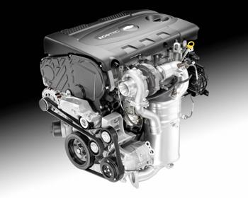 Instead of the 150 lb-ft of torque offered by the Cruze's gasoline-burning counterpart, the new turbo diesel will provide 258 lb-ft of torque at 2,000 rpm. It will also deliver a fuel efficiency of 46 mpg to the Cruze.   (Source: GM)