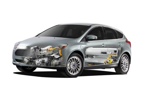 The 2014 Ford Focus EV earned NHTSA five-star safety ratings across the board --overall, frontal crash, side crash, and rollover protection.(Source: Ford Motor Co., NHTSA)