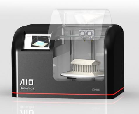 AIO Robotics' Zeus 3D printer also scans objects, copies them, and faxes .STL files to a remote Zeus for printing.   (Source: AIO Robotics)