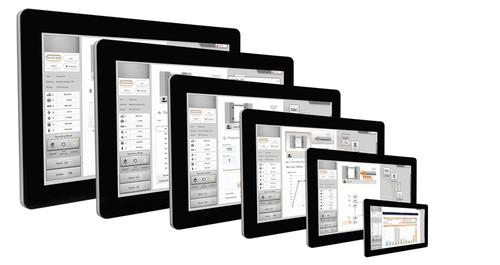 The Automation PC 910 from B&R Automation is part of a complete line of multi-touch panels, offering the form factor of an oversized iPad and using the latest third-generation Intel Core i technology.(Source: General Electric)