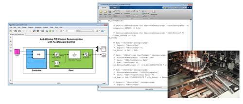 By working from a model to structured text and finally an application, the Simulink PLC Coder from The MathWorks generates structured text from the model that an IDE can deploy to an industrial control system.   (Source: The MathWorks)