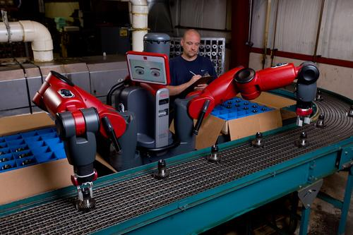 A new software upgrade to Rethink Robotics' Baxter robot extends the robot's reach, makes it easier to program more precisely, and improves overall performance. The upgrade is free to existing users, and a new robot equipped with the upgrade costs the same as one with the previous version.   (Source: Rethink Robotics)