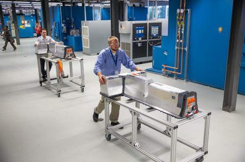 GM is nearly tripling the size of the lab where it tests and validates battery packs for the Chevy Volt.(Source: GM)